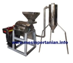 Mesin Hammer mill Stainless steel dengan cyclon
