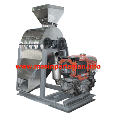 Mesin Penepung Chip Kering Porang With Cyclone (Hammer Mill With Cyclone) Material Stainless Steel Tipe 60